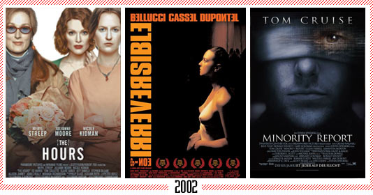 "2002 - ""The Hours"" – ""Irreversible"" – ""Minority Report"""
