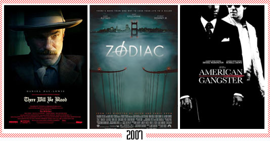 "2007 - ""There Will Be Blood"" – ""Zodiac"" – ""American Gangster"""