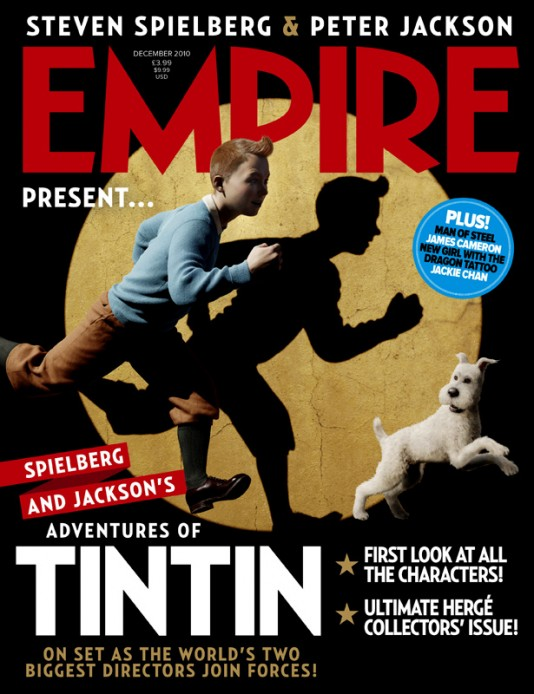 The Аdventures of Tintin - Empire magazine cover
