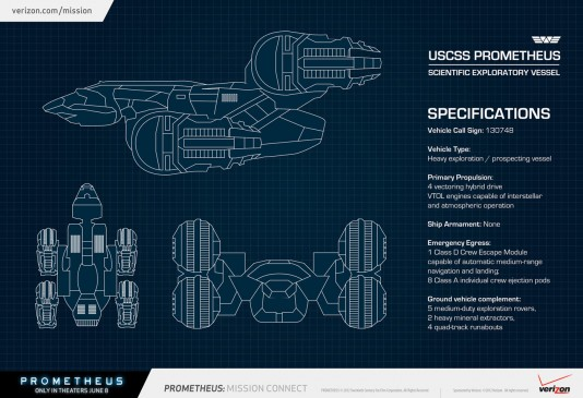 Prometheus Ship Blueprint