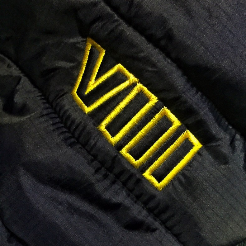Rian Johnson: Just got our first piece of embroidered swag. Seriously feels like NOW we're a real movie.