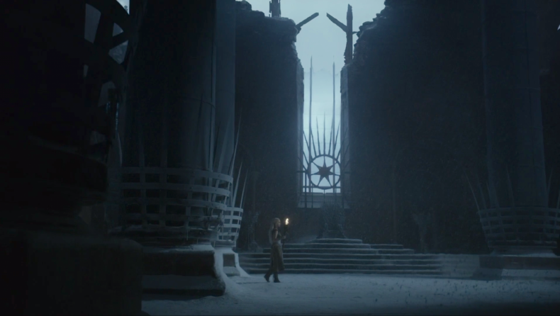 daenerys snowing throne room vision game of thrones
