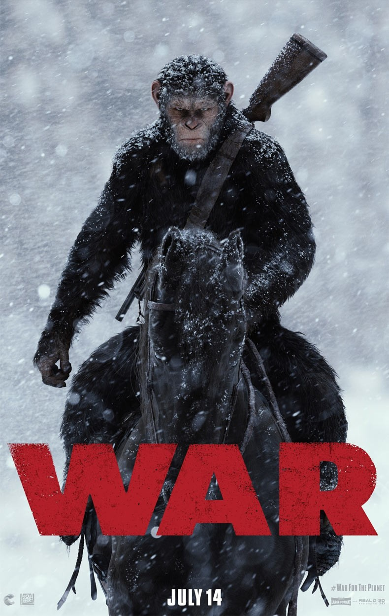 """Плакат на """"War For The Planet Of The Apes"""""""
