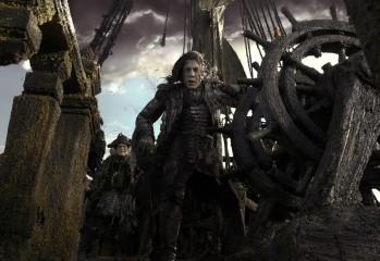 """PIRATES OF THE CARIBBEAN: DEAD MEN TELL NO TALES""..The villainous Captain Salazar (Javier Bardem) pursues Jack Sparrow (Johnny Depp) as he searches for the trident used by Poseidon...Ph: Film Frame..©Disney Enterprises, Inc. All Rights Reserved."