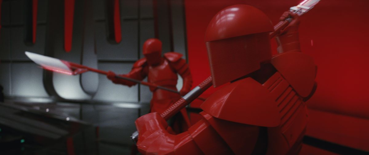 Star Wars: The Last Jedi..Praetorian Guards..Photo: Industrial Light & Magic/Lucasfilm..©2017 Lucasfilm Ltd. All Rights Reserved.