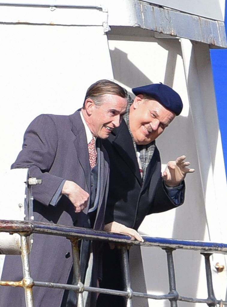 Steve Coogan and John C Reilly 'Stan and Ollie' on set filming, Bristol, UK - 10 Apr 2017
