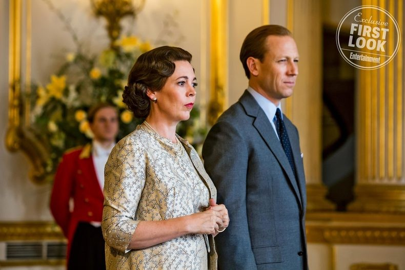 The Crown Pictured: Olivia Colman and Tobias Menzies
