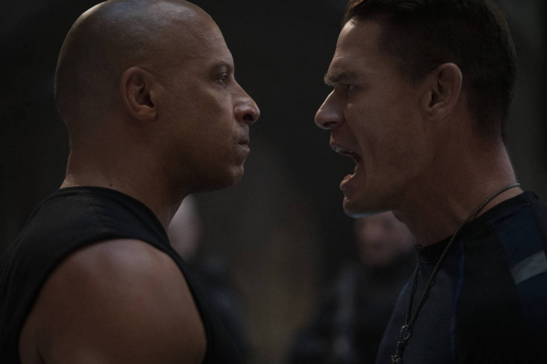 (from left) Dom (Vin Diesel) and Jakob (John Cena) in F9, directed by Justin Lin.